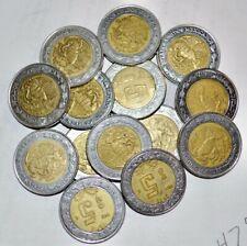 MEXICO lot BIMETALLIC 5 $5 PESOS unsearched world dos snake 5 coins