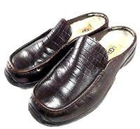UGG Australia Shoes #5436 Brown Sheepskin Lined Mules Clogs Slides Womens Sz 6
