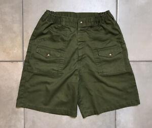 VTG Boy Scouts BSA Olive Green Uniform Shorts Women's Size 10 Waist 27 (#2)