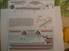 LIVERIES UNLIMITED 1/144 AMERICAN AIRLINES 727s    #A4-064