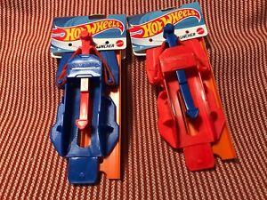 NEW ~ HOT WHEELS ~ LAUNCHER ~ MATTEL ~ CHOOSE RED or BLUE ~ 1+ SHIP