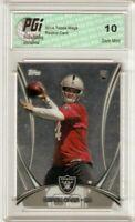 @ @ Derek Carr 2014 Topps Mega Chrome #5 Las Vegas Raiders Rookie Card PGI 10