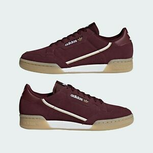 ADIDAS Continental 80 Men's Casual Fashion Sport Sneakers BD7651 Maroon.