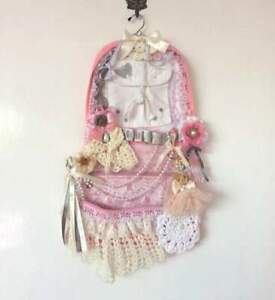 Tattered Lace Pocket wall hanging shabby chic