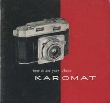Ansco Karomat Instruction Manual