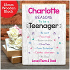 Reasons To Be A Teenager Personalised 13th 16th Birthday Gifts for Daughter Her