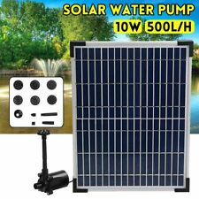 Fountain Water Pump Solar Panel Energy Saving Outdoor Decoration 17V 500L/H Tool
