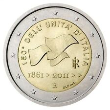 "2011 Italy 2 Euro Uncirculated Coin ""Italian Unification 150 Years"""