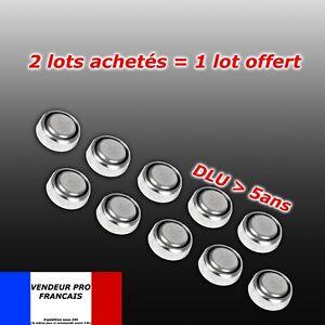 pile AG3  AG 3 = G3 LR41 SR41 GP92A LR736 392A  lot 10 piles bouton SANS MERCURE
