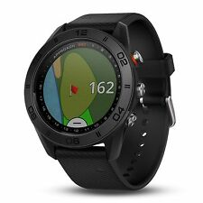 Garmin Approach S60 GPS Golf Watch Black with Black Silicone Band 010-01702-00