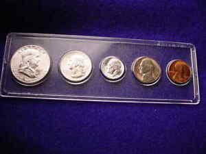 1951-S SAN FRANCISCO 5 COIN MINT SET ALL BU COINS 90% SILVER!!    #10