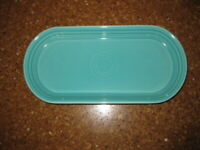 "HOMER LAUGHLIN FIESTA WARE TURQUOISE BLUE 12"" BREAD SERVING TRAY PLATTER"