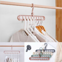 9 Hole Clothing Rack Closet Organizer Space Saving Magic Hanger Clothes Hook UK