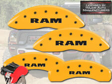 "2002-2005 Dodge ""Ram"" 1500 Front + Rear Yellow MGP Brake Disc Caliper Covers 4pc"