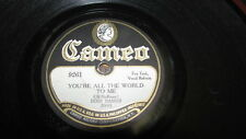 THE DIXIE DAISIES CAMEO 78 RPM RECORD 9261 YOU'RE ALL THE WORLD TO ME