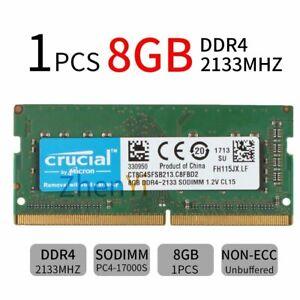 8GB 4GB DDR4 PC4-17000S 2133MHz CL15 Laptop Memory SODIMM Memory RAM Crucial BT