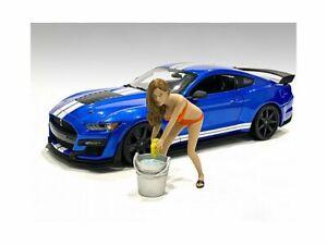 BIKINI CAR WASH GIRL - CINDY 1/18 scale Figure AMERICAN DIORAMA 76264