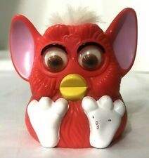 1998 Collectible Orange Furby White Hair Works Noise Eyes Move For Mc Donald's