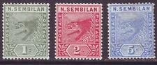 Malaya Negri Sembilan 1891 SC 2-4 MH Set Tiger