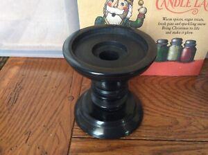 New Yankee Candle Black Stone Pillar Candle Holder Centerpiece Heavy Stone
