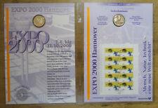 BRD Numisblatt 2 / 2000 EXPO 2000 Hannover DM 10 Silber Gedenkmünze Bestzustand