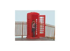 Modelscene 5005 OO Gauge Telephone Box and Caller