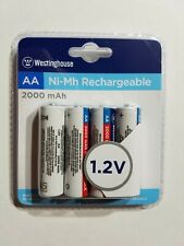 Westinghouse 2000 mAh AA Ni-Mh Rechargeable Batteries 1.2V B108014