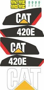 Caterpillar 420E Backhoe Decals / Adhesives / Stickers Complete Set / Kit