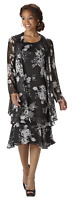 West Side Clothing Women's Georgette Jacket/Dress (Black/White size 10) #CBC0004