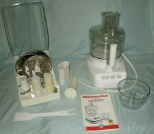 KitchenAid 11 Cup Ultra Power Food Processor w/ Blades & Accessories White GUC