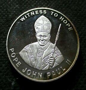 COMMEMORATIVE 10 KWACHA 2003 COIN OF MALAWI - POPE JOHN PAUL II WITNES TO HOPE
