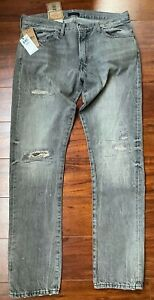 Polo Ralph Lauren Jean Pant 36 X 30 Grey Sullivan Slim Distressed Rope Dye $125