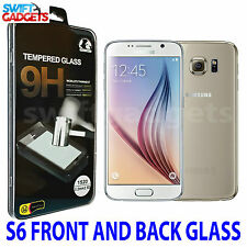 FRONT AND BACK FULL BODY TEMPERED GLASS SCREEN PROTECTORS FOR SAMSUNG GALAXY S6