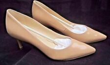 Nine West Margot Pointed Toe Patent Leather Heels - Nude / Beige - size 7M - NIB