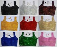Sari Saree Blouse Readymade Designer Choli Silk Lehengha Beautiful Fancy blouse