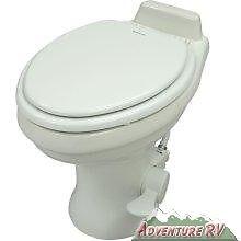 Dometic High Profile 320 Series Gravity RV Camper Trailer Toilet White 302320081