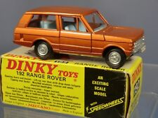 "DINKY TOYS MODEL No.192  RANGE ROVER  ""BRONZE"" WITH "" LIGHT BLUE INTERIOR""  MIB"