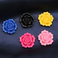 10pcs Hot Sale Random Mixed Color Roses Resin Stick-on Flatback Embellishments D
