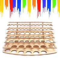 57 Pots Wooden Color Paint Bottle Storage Rack Stand Holder Organizer Model