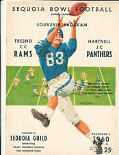 1960 Sequoia Bowl football program Fresno CC  vs Hartnell JC