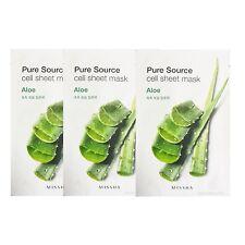 Missha Pure Source Cell Sheet Mask Aloe 21g 3pcs Moisturizing Soothing