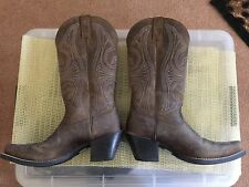 Ariat Cowboy Boots Round Up D Toe  -10011953 Distressed Brown Womens