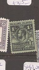 FALKLAND ISLANDS (2008)  KGV WHALE & PENGUIN 1/- SG122 copy 2 VFU