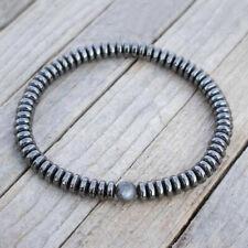 Fashion Minimalist Natural Stone Men Charm Hematite Beads Bracelet Yoga Jewelry