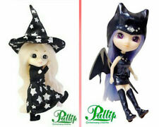 Set 2 Mini Pullip doll Halloween Outfit 2007 Dido black vampire + Witch