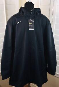 $140 Nike Protect Shield Repel Black Parka Jacket, AJ6719-010, Men's 3XL, NWT
