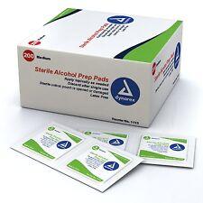 200 Sterile Alcohol Prep Pads Medium Skin Disinfection Needle Shot Dynarex 1113