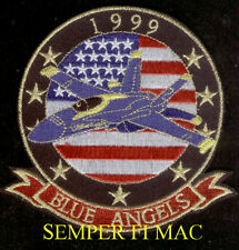 1999 US NAVY BLUE ANGELS PATCH 53rd ANNIVERSARY F-18 HORNET MARINES MCAS NAS USS
