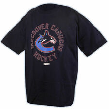 Vancouver Canucks CCM NHL 4997 Digital Team Logo Navy Blue Hockey T-Shirt