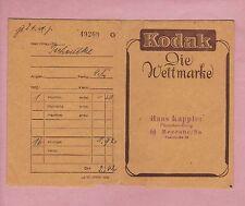 BERLIN, Tüte Werbung 1955, Kodak AG Film Foto-Papier-Tasche